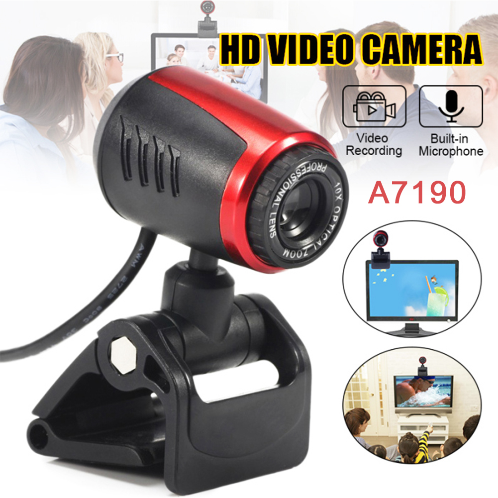 USB 2.0 LED HD-Smart MIC Webcam Camera Web Cam with Microphone Mic for PC Laptop