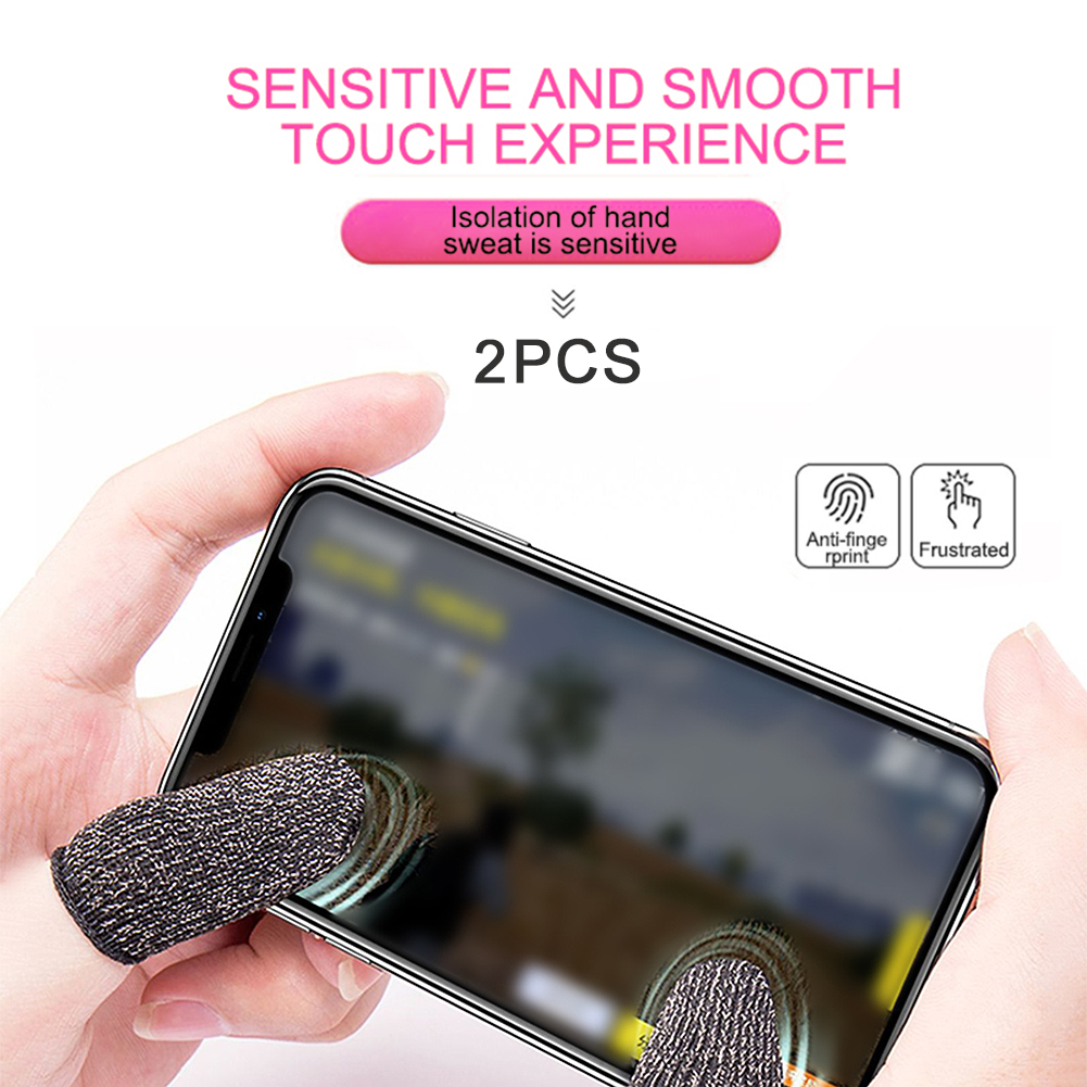 Breathable Finger Cover Game Controller Finger Cover Sweat Proof Non-Scratch Sleeve Sensitive Nylon Mobile Touch Screen