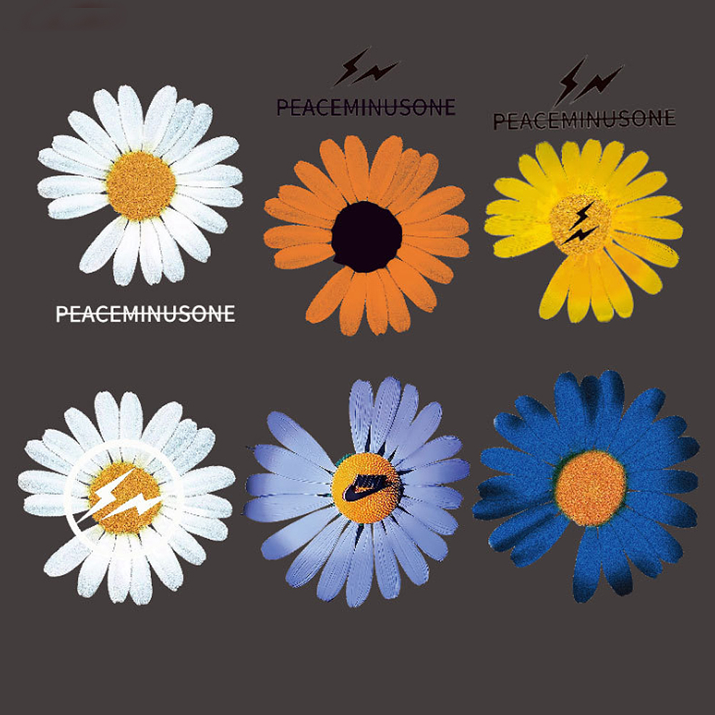 Daisy Print Flash Clothing Hot Stamping Hot Transfer Decal Stickers