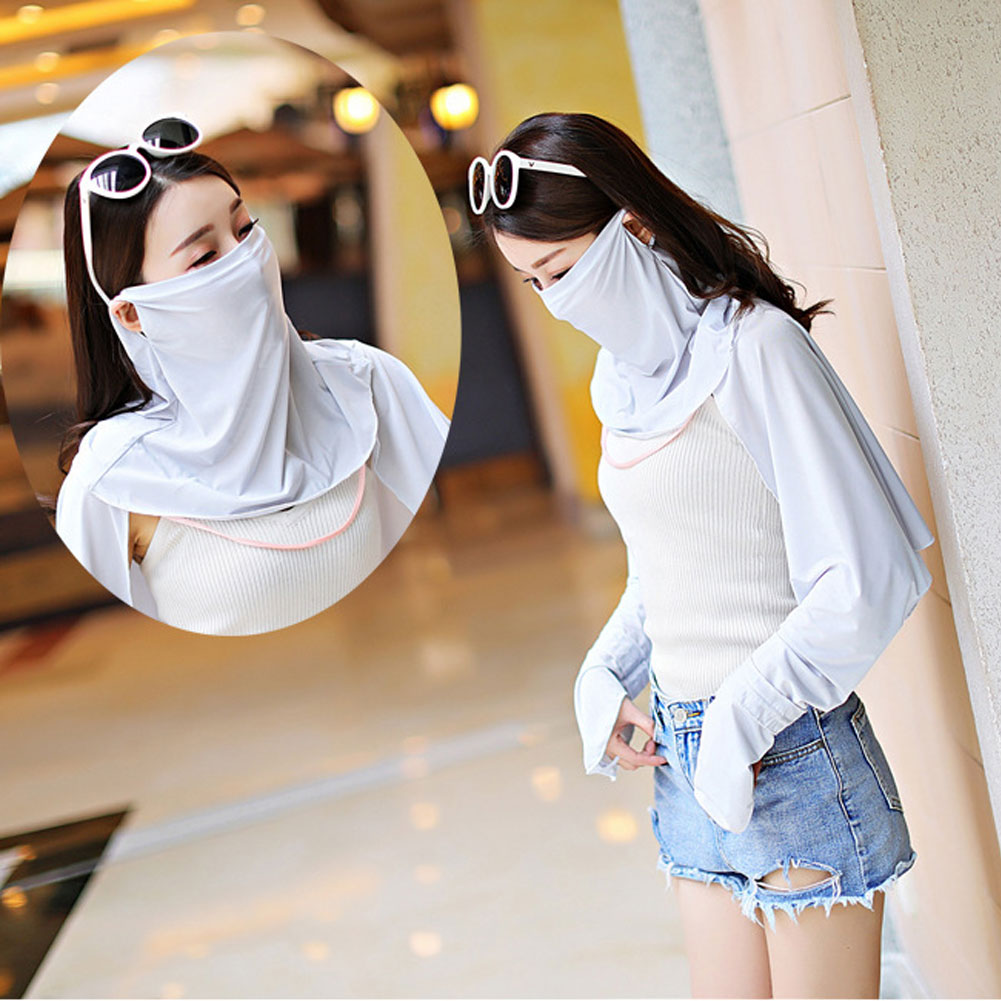 Ice Silk Face Mouth Nose Cover Outdoor Scarf UV Protection Shawl Veil Hearwear