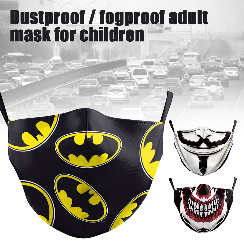 Adult Big Mouth Print Face Fabric Proof Bacteria Masks Skull Mouth Cover Reusable Protection Dust Washable Masks