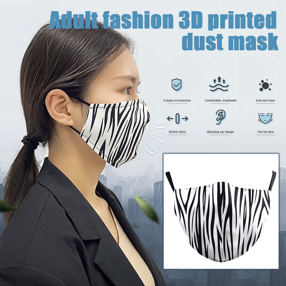 Women Flower Print Face Mask Protective PM2.5 Dust Mouth Mask Washable Reusable Mouth Cover Fashion Fabric Masks