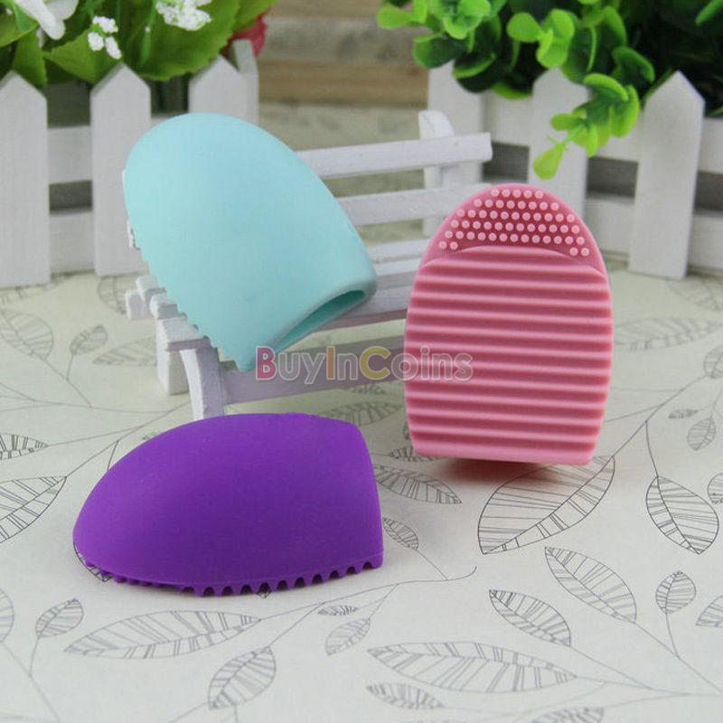 1/2/5/10/20pcs New Silicone Cleaning Cosmetic Makeup Brush Gel Cleaner Scrubber Tool Foundation фото